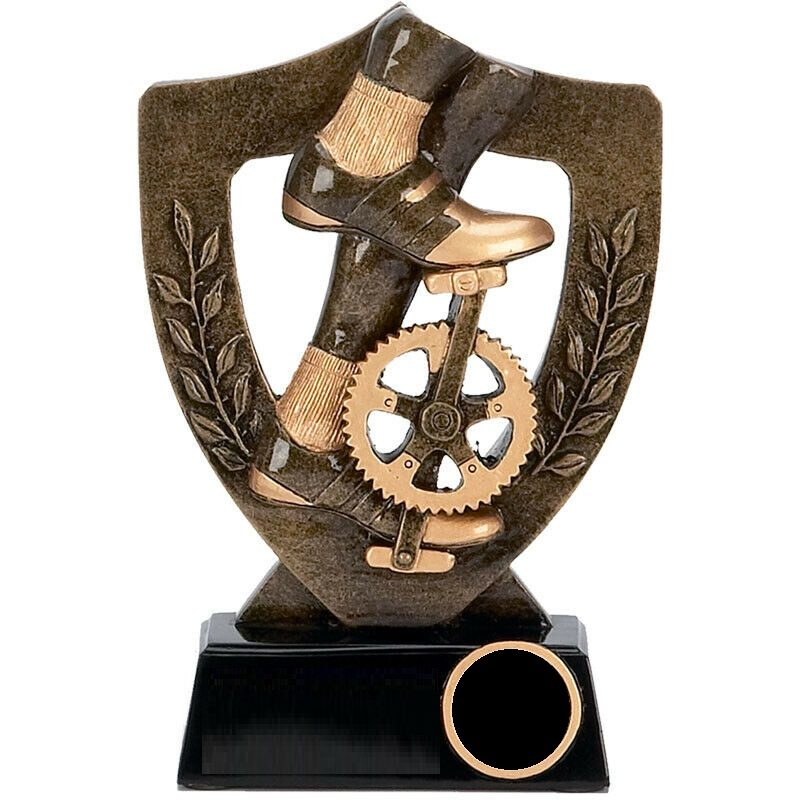 Resin Trophy: Cyclist Pedals