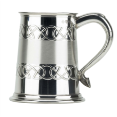 Tankard Celtic & Satin Band (Pewter Finish)