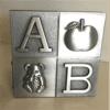 Money Box: ABC Cube (Pewter Finish)