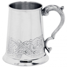 Tankard Celtic Scene (Pewter Finish)