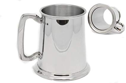 Tankard Glass Bottom (Stainless Steel)