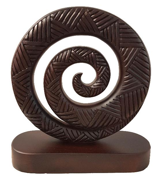 Carved Koru on Oval Base