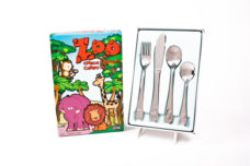 Children's Stainless Steel 4pc Cutlery Set (Zoo Animals)