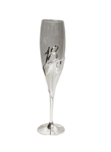 18th Birthday Glass Champagne Flute