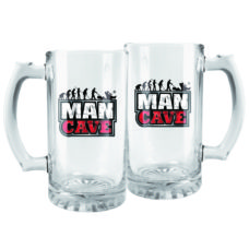 Man Cave Glass Beer Stein