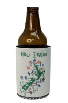 Kiwiana Can Cooler (Map of NZ)