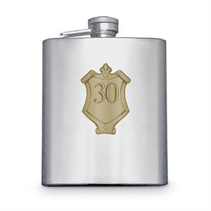 Hip Flask with Badge (30th)
