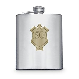 Hip Flask with Badge (50th)