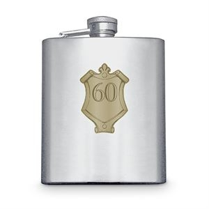 Hip Flask with Badge (60th)