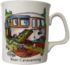 Fine Bone China Coffee Mug: Bean Caravanning