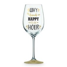Wine Glass: Why Limit Happy To An Hour