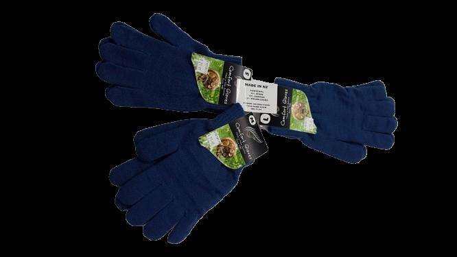 Comfort Gloves: Blue (Made in NZ)