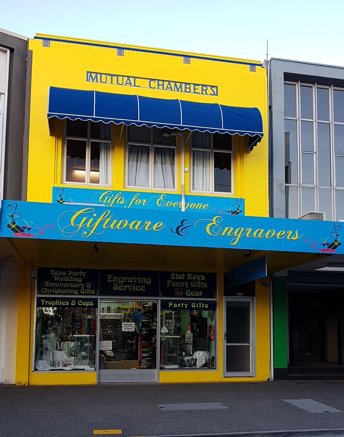 Giftware & Engravers: Store Front at 108 Hastings St, Napier, New Zealand