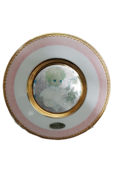 Baby Girl Pink Plate (24kt Gold Trim)