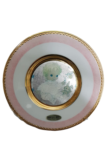 Baby Girl Plate (24kt Gold Trim)
