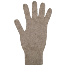 Possum Merino Gloves: Natural (Full Finger)
