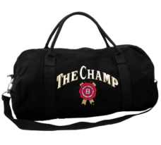 "Jim Beam ""The Champ"" Black Canvas Sport's Bag"