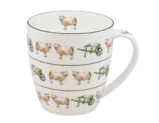 Bone China Mug: Sheep & Wheel Barrows