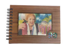 Wooden 90th Guestbook Photo Frame (NZ Made)