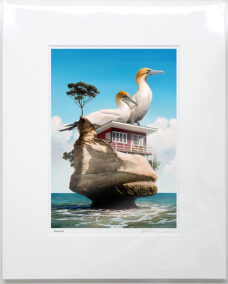 Barry Ross Smith – NZ Print – Gannet Rock
