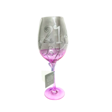 21 Purple Vine Wine Glass (Large)