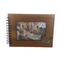 Wooden 65th Guestbook Photo Frame (NZ Made)