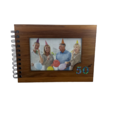 Wooden 50th Guestbook Photo Frame (NZ Made)