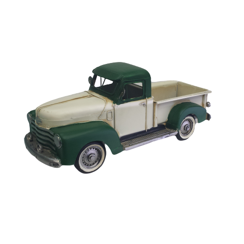 Green and Cream Truck