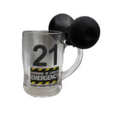 21 Birthday Beer Mug with Horn