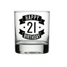 Happy 21 Birthday Spirit Glass (300ml)