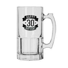 Happy 30 Birthday Glass Jug (1 Litre)
