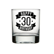 Happy 30 Birthday Spirit Glass (300ml)