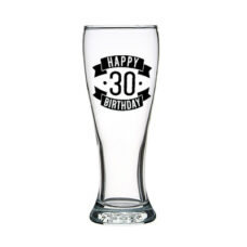 Happy 30 Birthday Tall Glass (425ml)