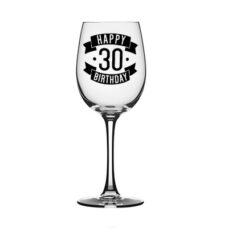 Happy 30 Birthday Wine Glass (350ml)