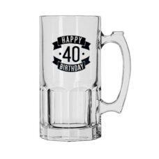Happy 40 Birthday Glass Jug (1 Litre)