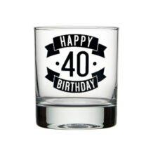 Happy 40 Birthday Spirit Glass (300ml)