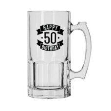 Happy 50 Birthday Glass Jug (1 Litre)