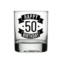 Happy 50 Birthday Spirit Glass (300ml)