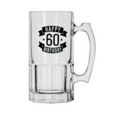 Happy 60 Birthday Glass Jug (1 Litre)