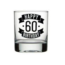 Happy 60 Birthday Spirit Glass (300ml)