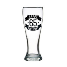 Happy 65 Birthday Tall Glass (425ml)