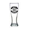 Happy 80 Birthday Tall Glass (425ml)