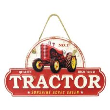 Tractor Tin Sign Hanger