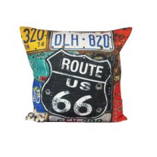 Route 66 Cushion (Number Plates)