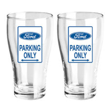 Ford Parking Only Schooners (Set of 2)