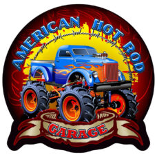 American Hot Rod Wall Plaque