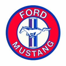Ford Mustang Metal Sign