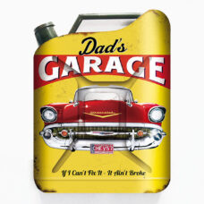 Dad's Garage Jerry Can Metal Sign