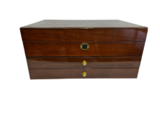 Large Wooden Jewel Box (Walnut Finish)