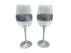 Happy 25th Anniversary Wine Glass Set